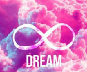 infinity, pink, and Dream image