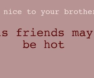brother and text image