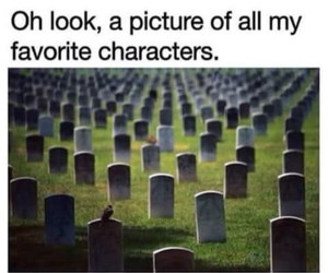 book, character, and dead image