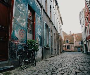 bike, city, and inspiring image