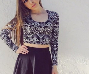 girl, tumblr, and crop top image