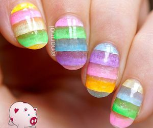 nails, nails art, and uñas. colores. glamour image