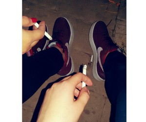 cigarettes, nike, and red image