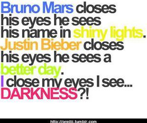 text, justin bieber, and bruno mars image