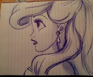 ariel, draw, and disney image