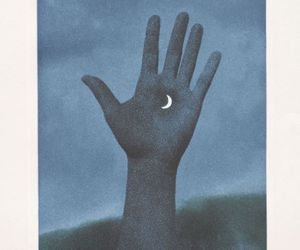 moon, hand, and indie image