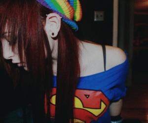 girl, abcdomo, and superman image