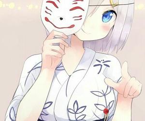 anime, blue eyes, and flower image
