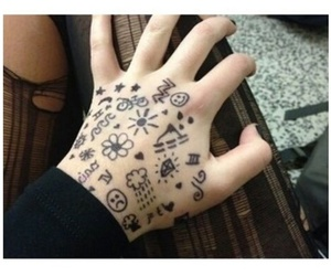 grunge, hand, and pale image