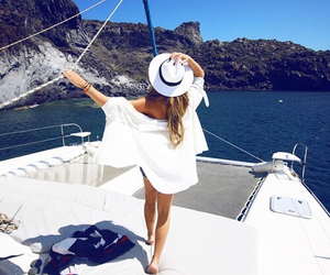 summer, girl, and white image