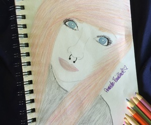 art, drawing, and colored pencils image