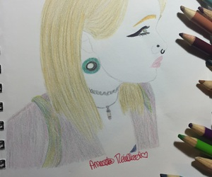 colored pencils, art, and drawing image