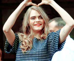 cara delevingne, model, and heart image
