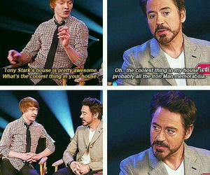 funny, iron man, and robert downey jr image