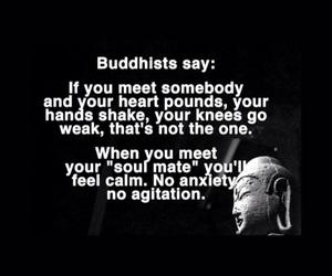 black and white, buddhism, and quote image