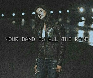 band, black, and Lyrics image