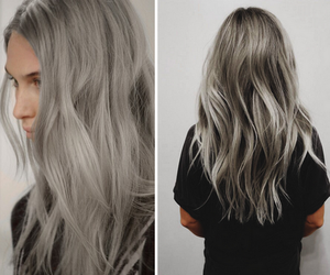 hair, grey, and blue image