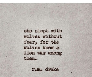 quote, wolves, and r m drake image