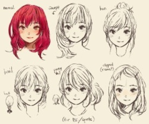 hair, anime, and hairstyle image