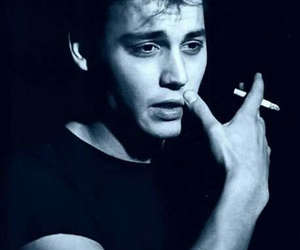 johnny depp, boy, and black and white image