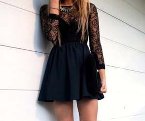 dress, black, and perfect image