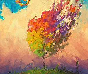 art, tree, and colorful image