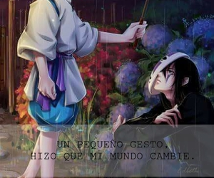 anime, frase, and paragüas image