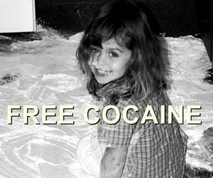 cocaine and black and white image