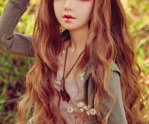 doll, bjd, and flowers image