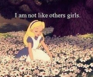 girl, alice, and flowers image
