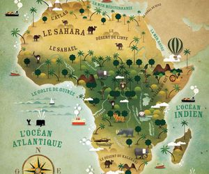 africa, french, and illustration image