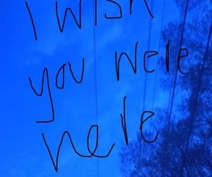 blue, feelings, and I Love You image