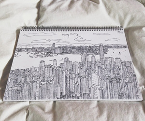 city, draw, and art image