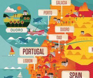 europe, map, and illustration image