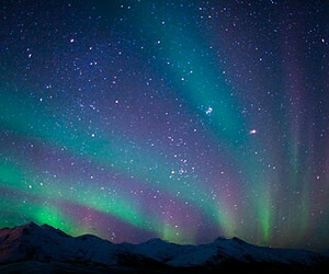 sky, northern lights, and stars image