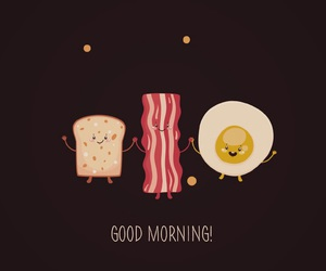 bacon, breakfast, and egg image