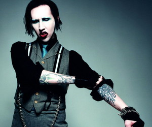 Marilyn Manson and tattoo image