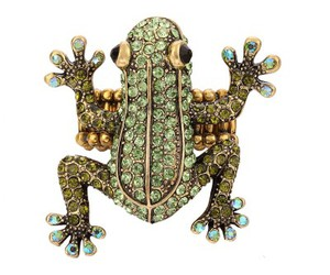frog ring, wild animal ring, and pave rhinestone ring image