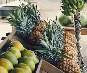 fruit, food, and pineapple image
