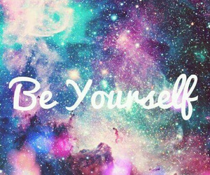 galaxy, be yourself, and quote image