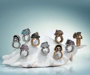 skull cocktail ring, helmet skull ring, and soldier skull ring image