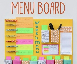 diy, menu, and board image