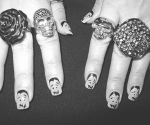 nails, rings, and rose image