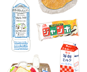 drawing, food, and draw image