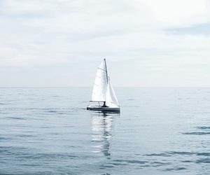 blue, boat, and sea image
