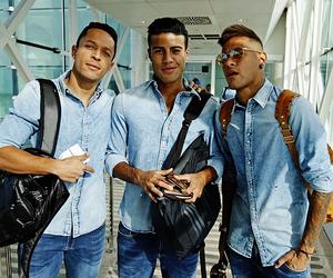 neymar, rafinha, and adriano image