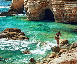beach and cyprus image