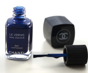 chanel, nails, and blue image