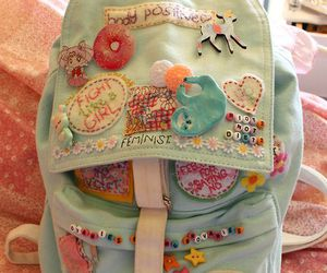cute, kawaii, and backpack image
