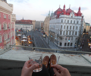 city, cigarette, and drink image